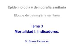 Mortalidad I