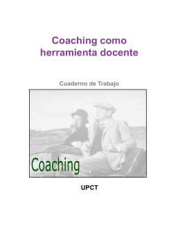 Coaching como Herramienta Docente.