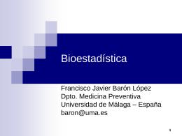 Bioestadística - Universidad de Málaga
