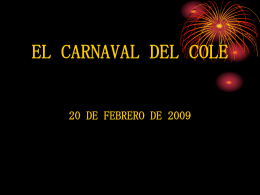 EL CARNAVAL DEL COLE - Educastur Hospedaje Web