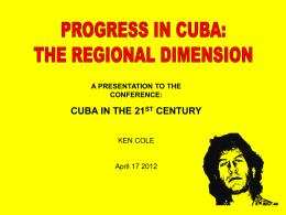 Conference Presentation 2012 Ken cole