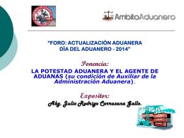 Presentación día del aduanero Camara de Comercio Puerto