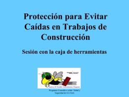 Protección de caidas para la construcción