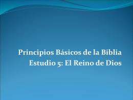 Principios Básicos de la Biblia Estudio 5