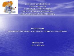 ética unidad III - Etica en Enfermeria