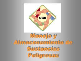 Manejo y almacenamiento Sustancias Peligrosas