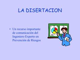 Elaboracion de una Disertación!