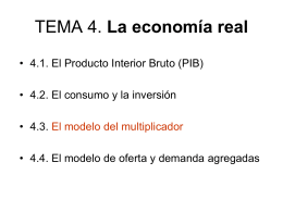TEMA 4. La economía real