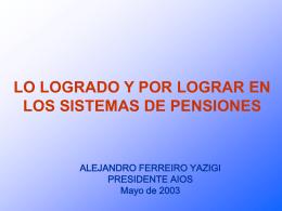Alejandro Ferreiro - mayo - (FIAP) Federación Internacional de