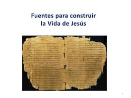 4TO_SEC_Tema 3 Fuentes para construir la vida de Jesus