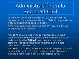 Administración en la Sociedad Civil Comercial