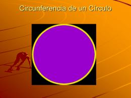 Circunferencia de un Círculo