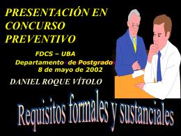 PRESENTACIÓN EN CONCURSO PREVENTIVO