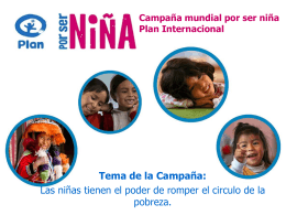 Campaña mundial por ser niña plan internacional