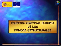 Política Regional Europea de los fondos Estructurales