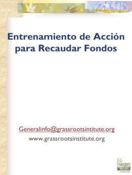 Entrenamiento de Acción para Recaudar Fondos