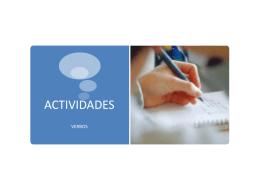 Corrección actividades verbos