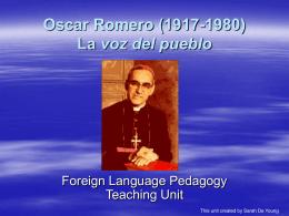 Oscar Romero La voz del pueblo
