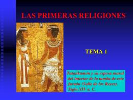 LAS PRIMERAS RELIGIONES