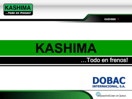 Diapositiva 1 - Freno Kashima
