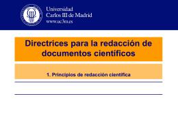 Directrices para la redacción de documentos científicos 3