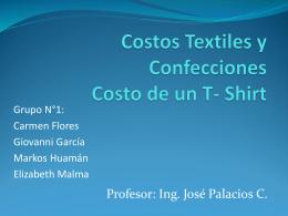 Costos Textiles en Confecciones