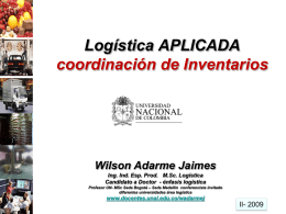 presentacion del curso - logistica aplicada