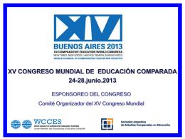 para descargar - Congreso Mundial de Educación Comparada