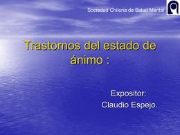 Trastornos del estado de ánimo : - Sociedad Chilena de Salud Mental