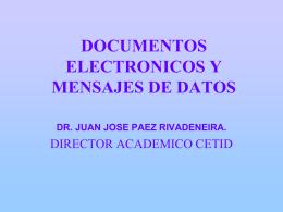 DOCUMENTOS ELECTRONICOS Y MENSAJES