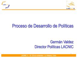 Sesión de Discusión de Políticas