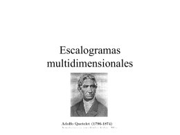 Escalogramas multidimensionales