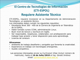 El Centro de Tecnologías de Información (CTI