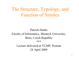 The Structure, Typology, and Function of Similes