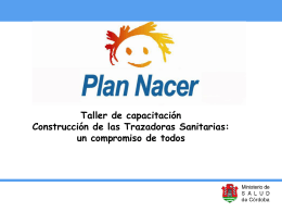 Trazadora Sanitaria I - Gobierno de la Provincia de Córdoba