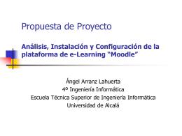 Análisis, Instalación y Configuración de la plataforma de e