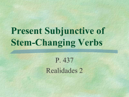 pierdan Present Subjunctive of Stem