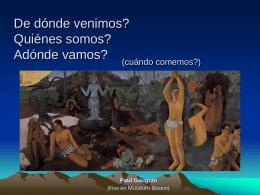 De dónde venimos? - Universidad Externado de Colombia