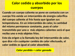 Fisica 4 calor cedido absorbido