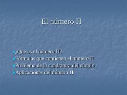 El número Π
