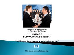 Habilidades de éxito para la actividad de ventas