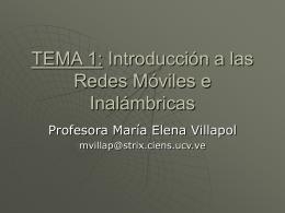 REDES DE COMUNICACIÓN MOVILES E INALAMBRICAS