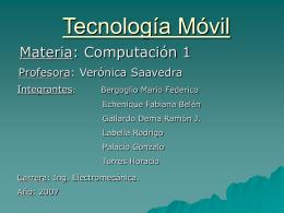 Tecnología Móvil.