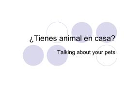 ¿Tienes un animal en casa? - crypt
