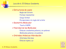 Enlace Covalente - Academia Ciencias Galilei