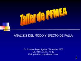 Análisis de del Modo y Efectos de Falla - Contacto: 55-52-17-49-12