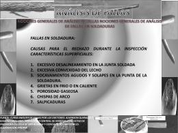 NOCIONES GENERALES DE ANÁLISIS DE FALLAS EN