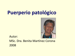 Puerperio patológico