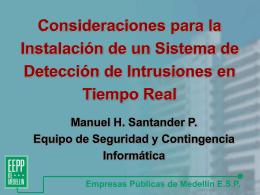 Consideraciones para la instalación de un Sistema de Detección de