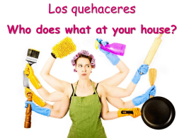 Who does what at your house?